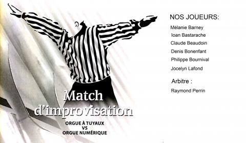 LE CANADA, UN PAYS IMPROVISÉMatch d'improvisationVendredi 23 février 2018Chapelle du Séminaire St-Joseph de Trois-RivièresPrix d'entrée: 20 $